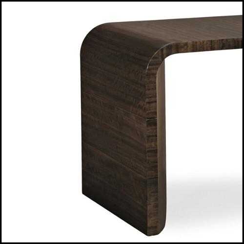 Lampe finition gold avec morceau de bois pétrifié 24-Divini