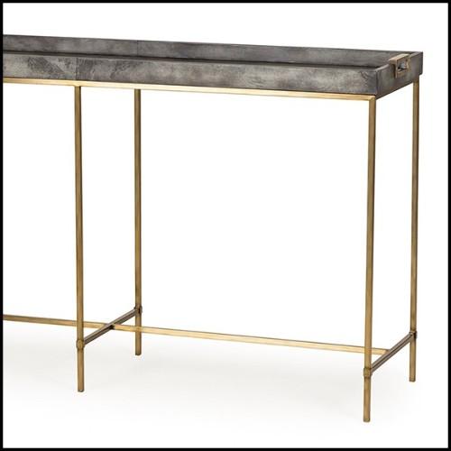 Étagères avec structure en acier inoxydable poli et plateau en verre clair 24-Trento Steel