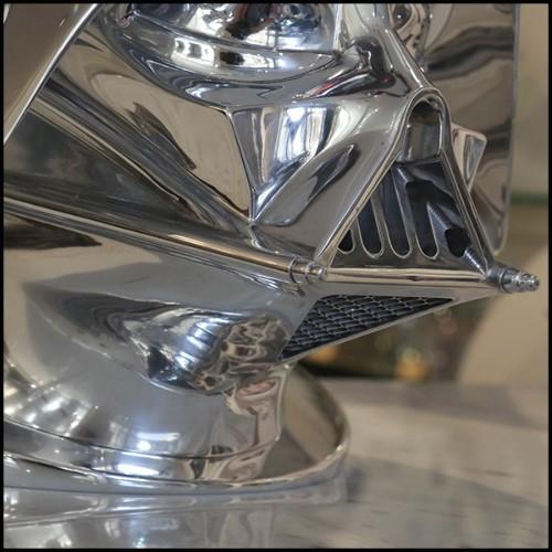 Table d'appoint ou tabouret en résine de polyethylene blanc avec changement de couleur lumière LED 111-Led Light Head