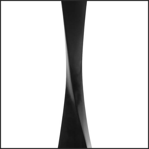Lampe avec structure en acier inoxydable poli finition Gold sur base en granite noir 24-Arlington