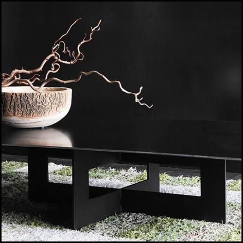 Bibliothèque en bois de noyer massif avec structure asymétrique recouverte de cuir véritable 154-Racing