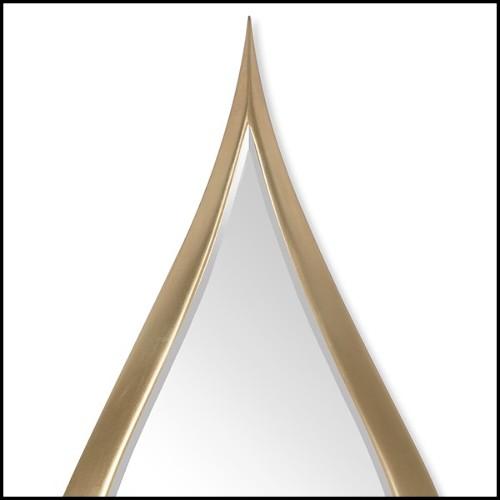 Table basse avec structure en bois fait main couverte avec de la peau d'alligator 120-Cayman