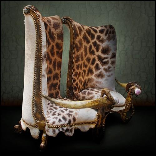 Table basse avec base finition gold et plateau en verre 24-Balance