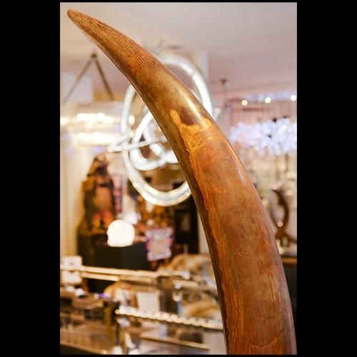 Banc avec structure en bois de noyer massif et assise en cuir véritable 154-Webbing