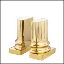 Book End Column in Polished brass finish 24-Golded