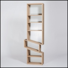 Shelve 100% solid French raw oak from sustainable French forests 112-Sliding