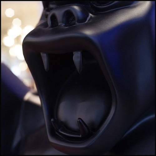Daybed avec structure acier inoxydable finition gold tapissé avec tissu velours gris 162-Grand Avenue