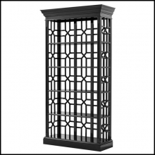 Cabinet with structure in solid mahogany wood 24-Otello Black