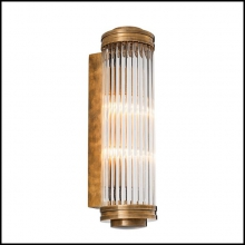 Wall Lamp in vintage brass or nickel or gunmetal bronze finish with clear glass 24-Saragosa L