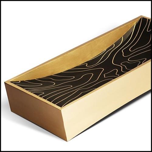 Canapé rond avec structure en bois massif et couvert avec tissu Pebble Grey 24-Carlita