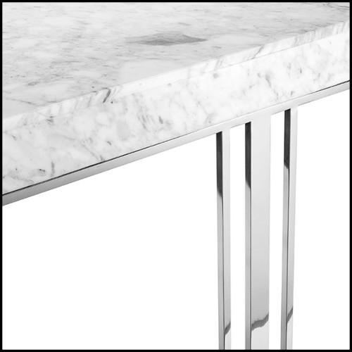 Canapé en véritable cuir gris avec dossier et côtés en laiton poli et martelé 145-Gold Safe