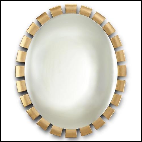 Miroir en acier inoxydable poli finition chrome avec miroirs en verre biseauté 24-Mandel Chrome
