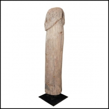 Sculpture in solid teak wood from Burma in middle 20th century 38-Fertility Symbol