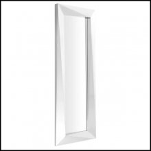 Mirror with mirror glass and frame in polished stainless steel 24-Rivoli L