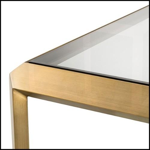 Miroir avec verre miroir et cadre finition gold 24-Rivoli L