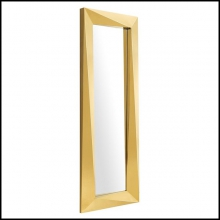 Mirror with mirror glass and frame in gold finish 24-Axis