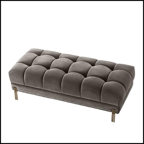 Miroir carré avec verre miroir et cadre finition gold ou acier inoxydable poli 24-Rivoli S