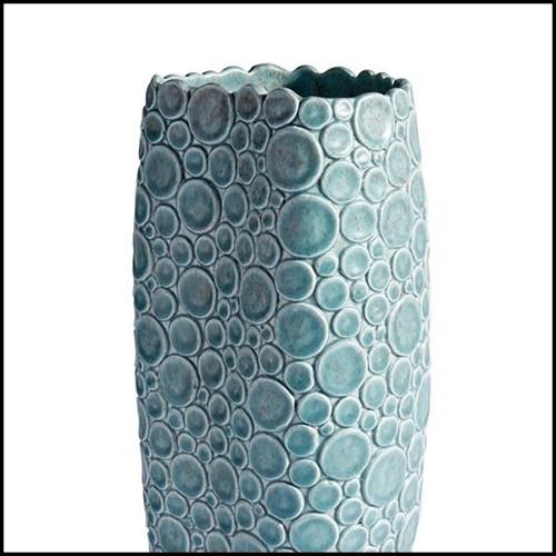 Tabouret couvert avec tissu velours vert avec repose-pieds finition champagne gold 24-Saloon