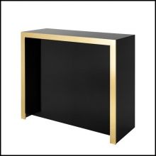 Bar with structure in wood and with front and sides covered with black glass 24-Grimaldi