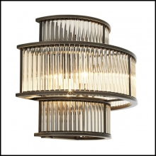 Applique avec structure en bronze finition highlight ou finition nickel avec verre clair 24-Mancini