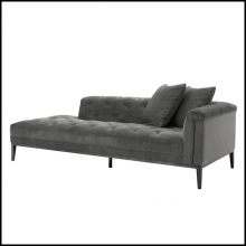 Canapé d'angle droit couvert avec tissu granite grey ou tissu pebble grey 24-Grand Office