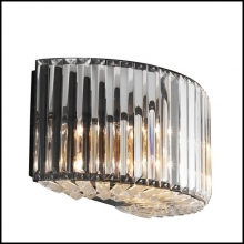 Applique avec verre clair taillé et structure finition gunmetal ou finition nickel 24-Infinity