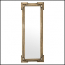 Mirror with antique brass frame and bevelled mirror glass 24-Livorno L