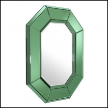 Mirror with green bevelled mirror glass or clear bevelled mirror glass 24-Le Sereno