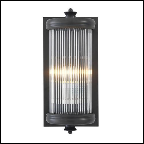 Chaise haute avec tissu velours rouge haute qualité et acajou massif brown vernis 119-Palma Right