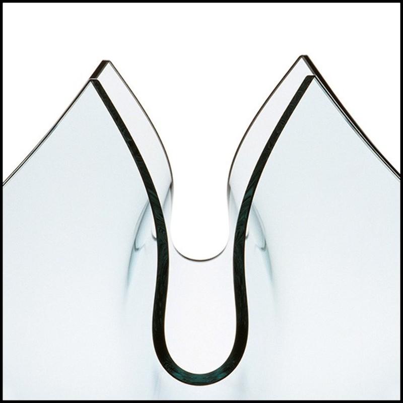 Table basse avec structure en bronze massif et plateau en Plateau marbre pour table