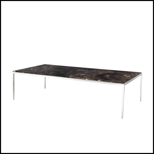 table basse avec structure en bronze massif et plateau en. Black Bedroom Furniture Sets. Home Design Ideas