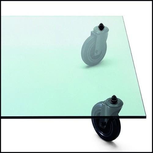 Etagère avec structure finition gold et avec etagères en verre fumé 24-Stantord Medium