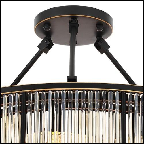 Paravent avec structure en bois noble massif laqué noir 119-Eternal