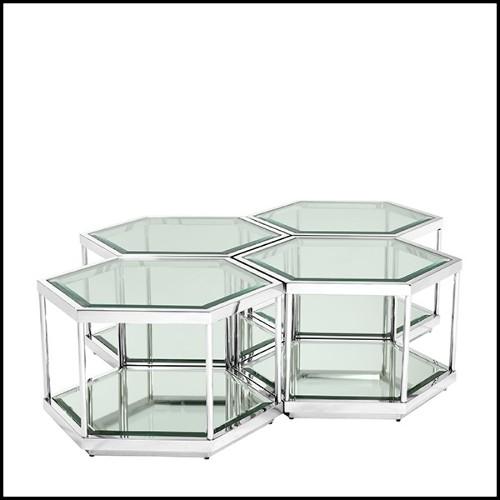 Paravent pliant en métal black satiné forgé à la main et détails des plumes finition italian silver doré 119-Feathers