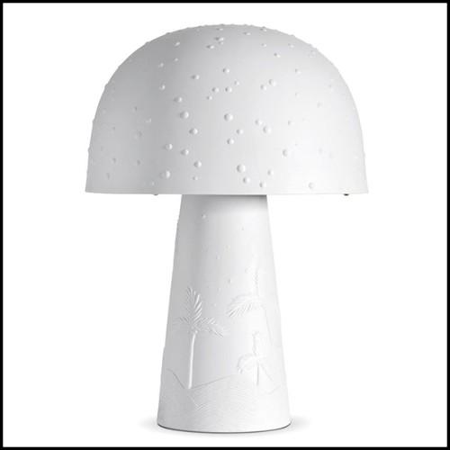 Lampe avec base en bois massif sculpté à la main finition antique Gold 119-Artemus