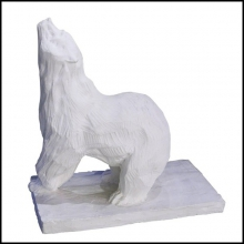Sculpture bear in plaster limited edition PC-Bear