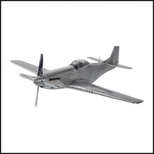 Aircraft Model in aluminium foil and silver polished 133-Mustang P51