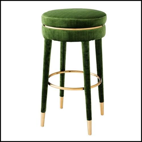 Miroir avec structure en metal doré mat et miroir en verre biseauté 38-Facets 144