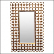 Mirror with mate gilded frame and bevelled mirror glass 38-Facets 144