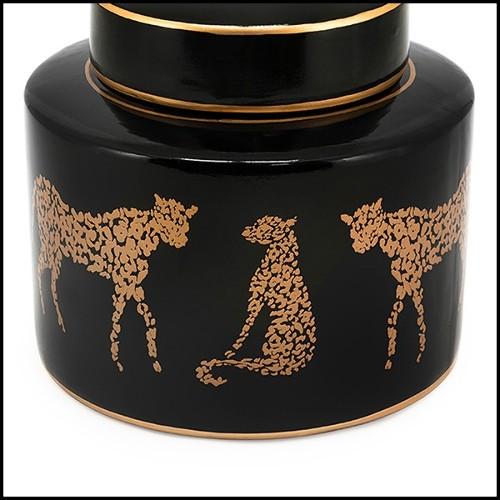 Table basse longue avec structure en bronze massif et plateau en marbre noir 24-Black Branches