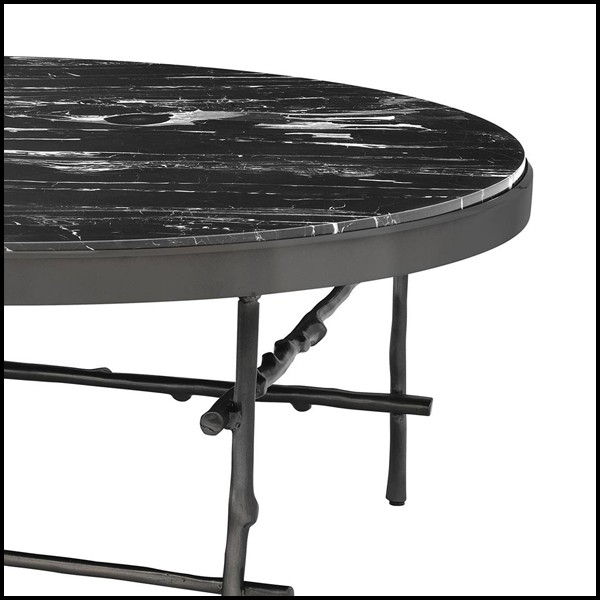 table basse ronde avec structure en bronze massif avec. Black Bedroom Furniture Sets. Home Design Ideas