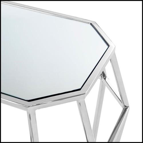 Miroir rond avec verre cristal étincelant taillé 35-Art Deco Style
