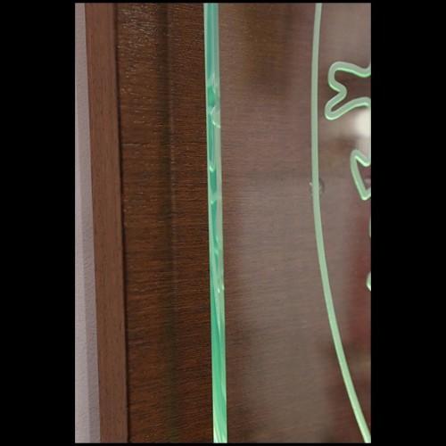 Banc avec tissu velours bleu ou gris ou vert et avec pieds en laiton poli 24-Coste Blue