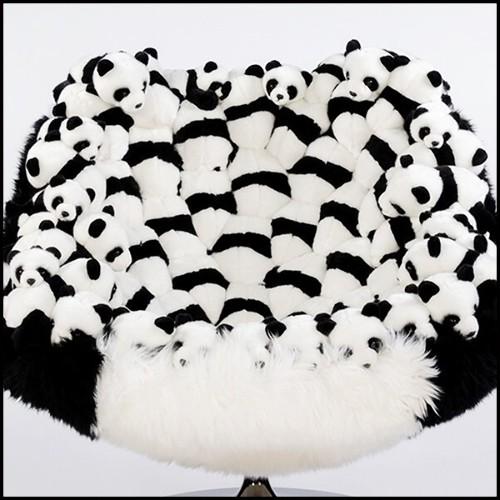 Canapé avec structure en noyer massif fait main et couvert avec cuir véritable 154-Extreme Wood