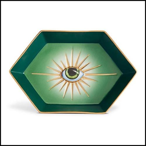 Paravent en acajou massif finition laqué noir entièrement taillé à la main 119-Loop