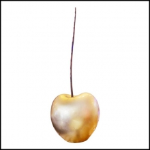 Sculpture cherry Gold Large all hand-crafted in ceramic in gold finish PC-Cherry Gold L