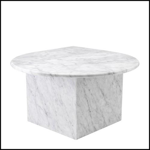 Fauteuil avec structure finition gold et couvert avec cuir colori crème 162-Matrix