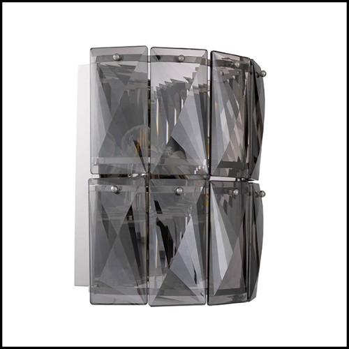 Miroir avec structure en bois d'acajou massif sculpté et peint à la main finition gold antique 119-Stairs
