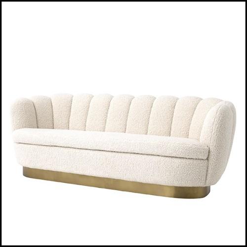 Table d'appoint avec plateau en marbre résine avec ceinture en laiton brossé 24-Parme