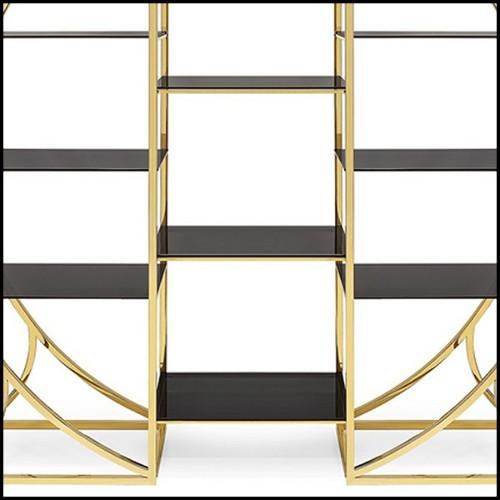 Table basse intégralement fabriquée en acier brut set de 3 pièces avec vernis incolore sombre 147-Z